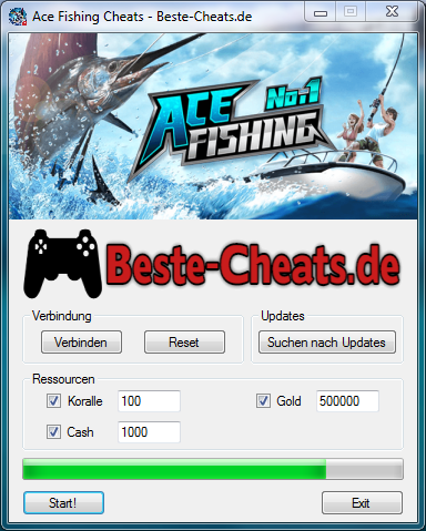 ace fishing cheats