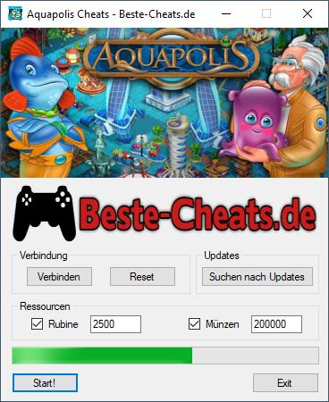 Aquapolis Cheats - Rubine und Münzen
