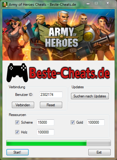 army of heroes cheats