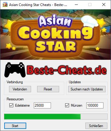 Wie kann man Cheats und Hacks in Asian Cooking Star benutzen