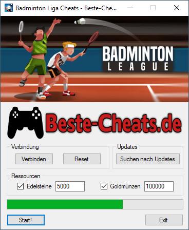 Badminton Liga Cheats - für mehr Goldmünzen und Edelsteine