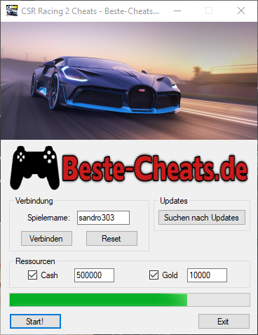 csr racing 2 cash und gold cheats