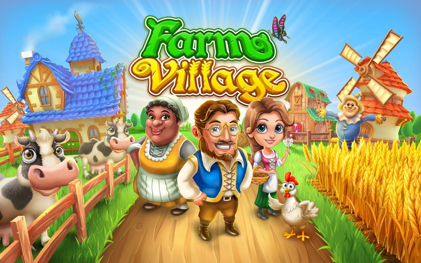 Village and Farm - Spiel Logo