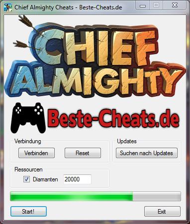chief almighty cheats - diamanten