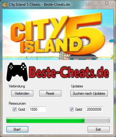 city island 5 cheats - gold und geld