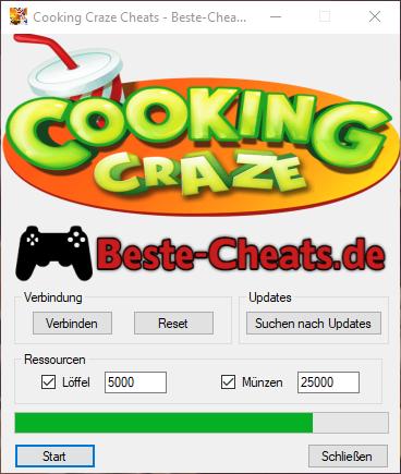 Cooking Craze Cheats für unendlich Löffel und Münzen