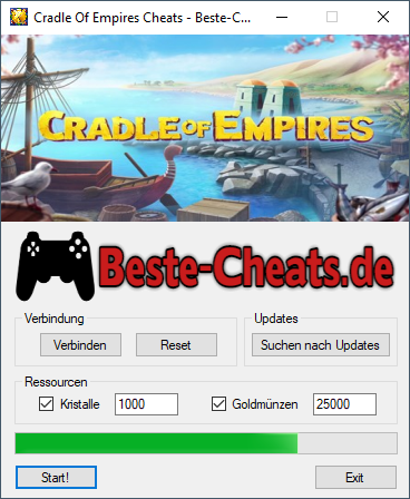 cradle of empires cheats - kristalle und goldmünzen