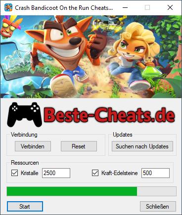 Crash Bandicoot On the Run Cheats - Kristalle und Kraft-Edelsteine bekommen