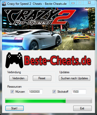 crazy for speed 2 cheats