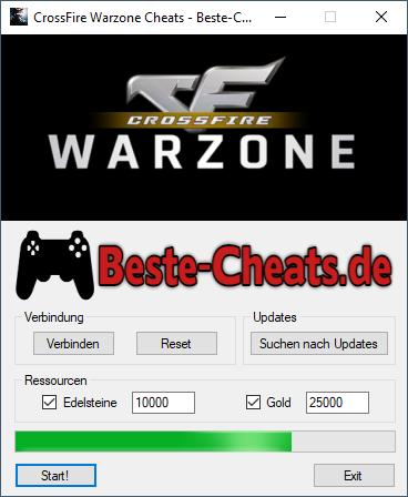 Sie können die CrossFire Warzone Cheats verwenden, um zu Ihrem Spiel mehr Edelsteine und Gold hinzuzufügen