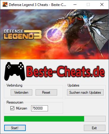defense legend 3 cheats - münzen
