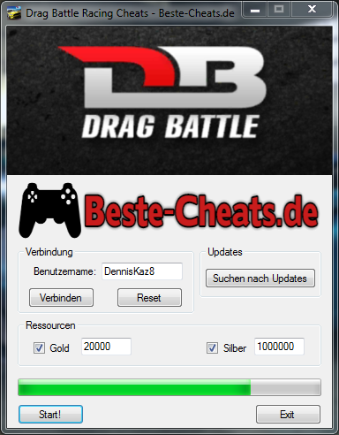 Drag Battle Racing Cheats - Gold und Silber