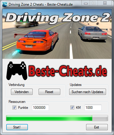 driving zone 2 cheats punkte und km