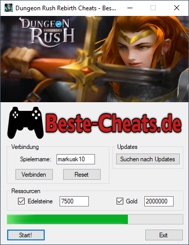 dungeon rush rebirth cheats gold und edelsteine