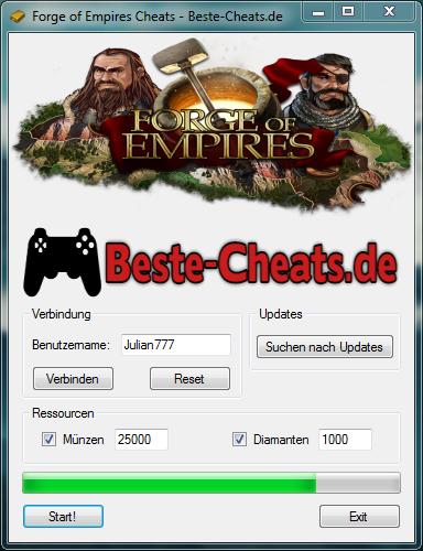 Verwenden Sie die Forge of Empires Cheats, um zusätzliche Münzen und Diamanten zu erhalten