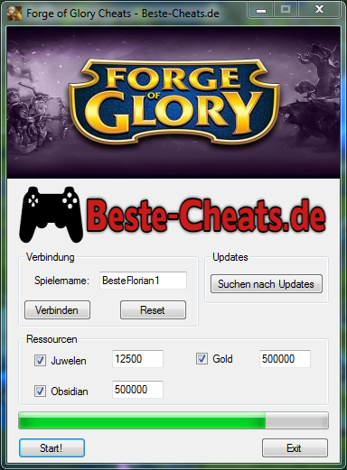 Forge of Glory Cheats - Juwelen, Gold und Obsidian
