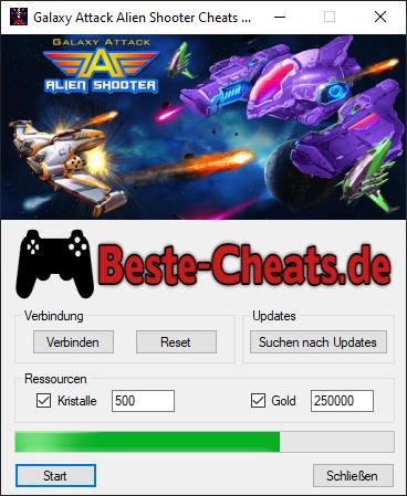Sie können die Galaxy Attack Alien Shooter Cheats verwenden, um mehr Kristalle und Gold im Spiel zu erhalten.