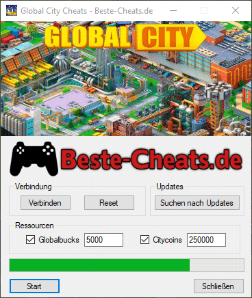 Global City Cheats - Globalbucks und Citycoins