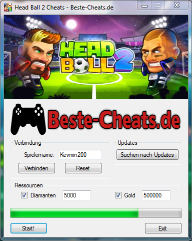 Head Ball 2 Cheats - Diamanten und Gold