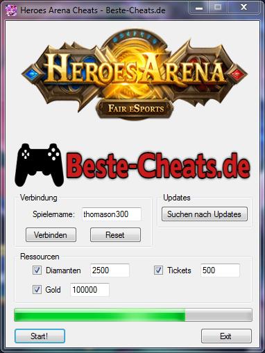 Heroes Arena Cheats - Diamanten, Tickets und Gold