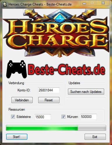 Heroes Charge Cheats - Edelsteine und Münzen