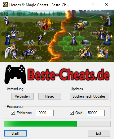 heroes & magic cheats edelsteine und gold - heroes magic war