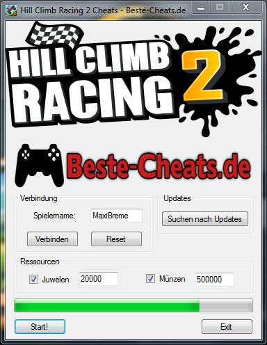 Hill Climb Racing 2 für unendlich Juwelen und Münzen