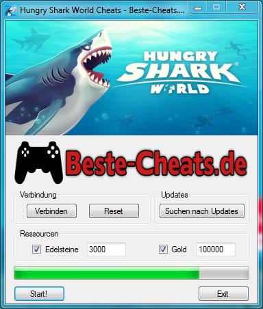 Hungry Shark World Cheats - Edelsteine und Gold