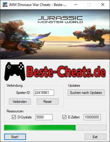JMW Dinosaur War Cheats - D-Crystals und E-Zellen