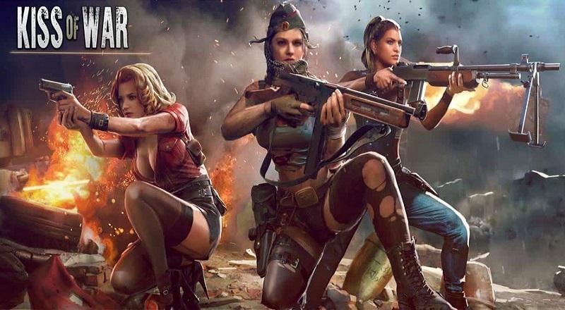 Kiss of War Spiel für mobile Geräte mit iOS und Android