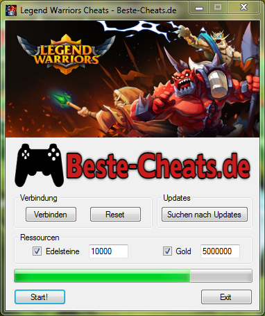 legend warriors cheats - edelsteine und gold
