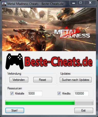 metal madness cheats