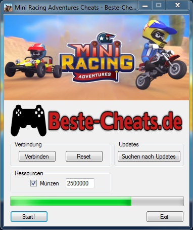 mini racing adventures cheats - münzen