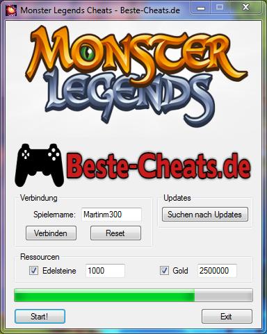 Monster Legends Cheats - Edelsteine und Gold
