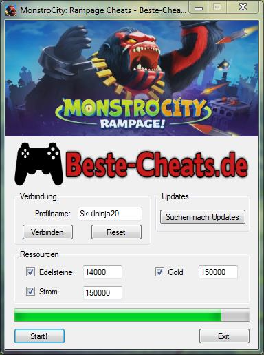 MonstroCity Rampage Cheats - Edelsteine, Gold und Strom