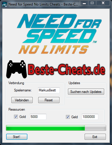 Need for Speed No Limits Cheats - Gold und Geld