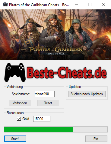 Pirates of the Caribbean - Gold Cheats