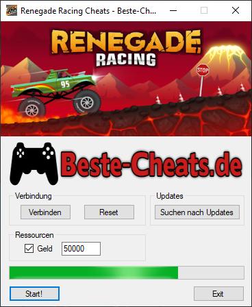 Endlich unendlich Geld bei Renegade Racing mit den Cheats bekommen