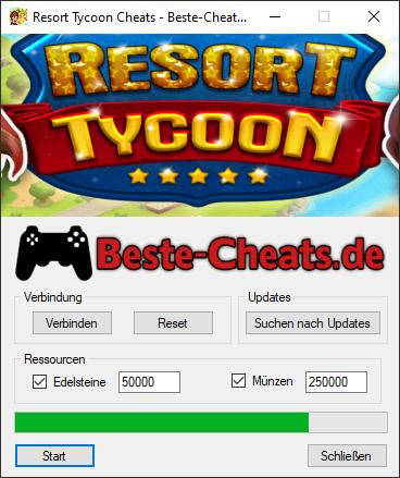 Resort Tycoon Cheats - Edelsteine und Münzen
