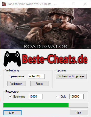 Road to Valor World War 2 Cheats - Edelsteine und Gold