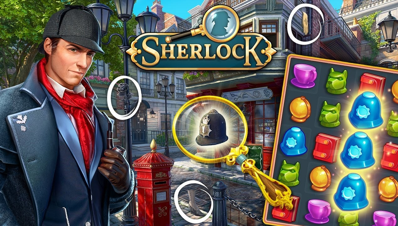 Sherlock: Wimmelbildspiele und Detektiv 3 Gewinnt Spiel