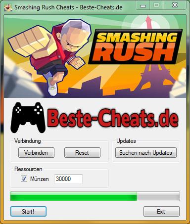 smashing rush cheats deutsch
