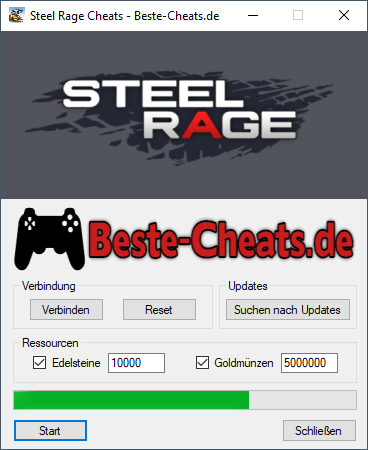Sie können Steel Rage Cheats verwenden, um eine beliebige Menge an Edelstein- und Goldmünzen hinzuzufügen.