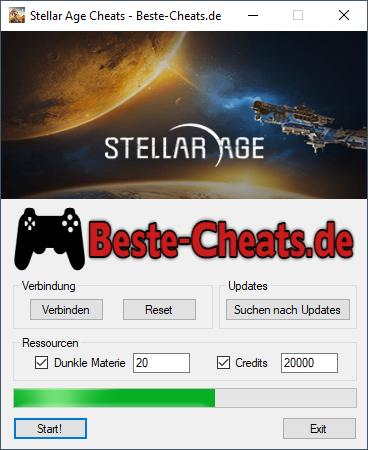 Stellar Age Cheats - Dunkle Materie und Credits