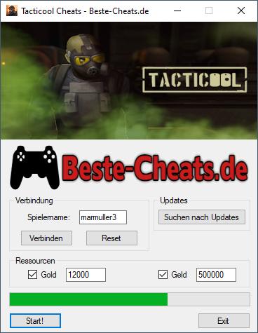 Tacticool Cheats - Gold und Geld