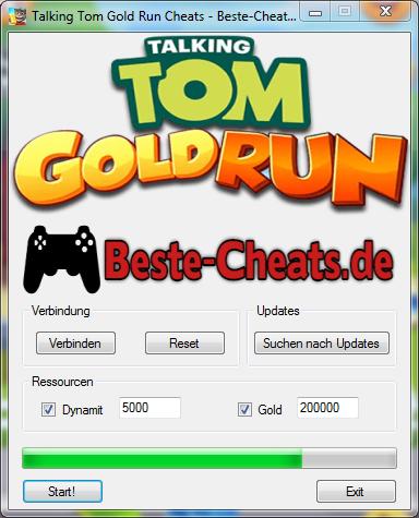 Talking Tom Gold Run Cheats - Dynamit und Gold