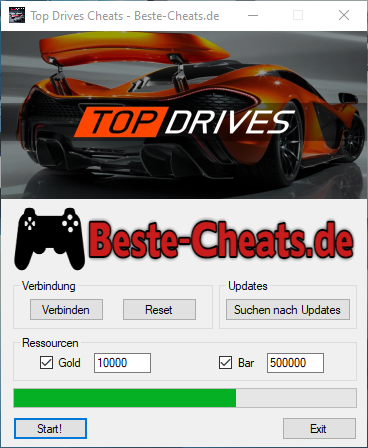 top drives cheats gold und bar