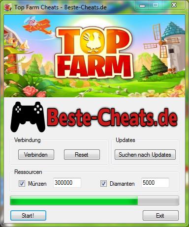 Mit den Top Farm Cheats können Sie zu Ihrem Spiel jede Menge Diamanten und Münzen hinzufügen.