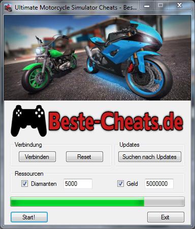 ultimate motocycle simulator cheats