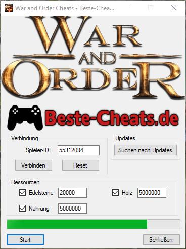 Mehr Edelsteine, Holz und Nahrung mit War and Order Cheats